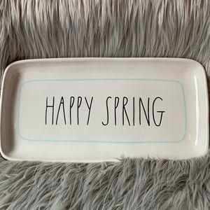 Other - Rae Dunn Happy spring platter